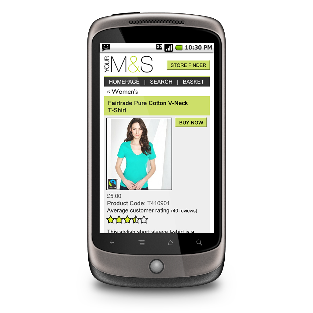 Mobile web sites: appealing to shoppers on the move