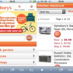 Sainsbury's: mobile website for non-food