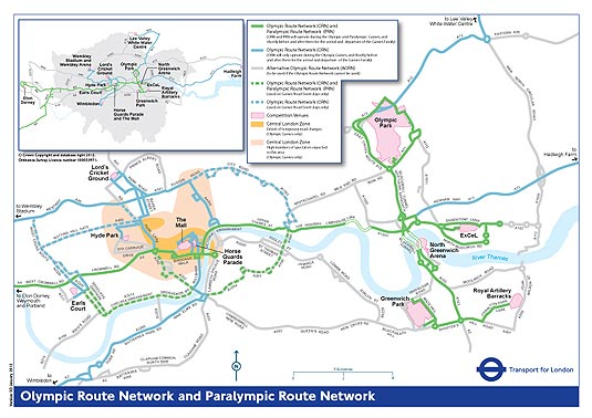 London 2012 Olympic and Paralympic Route Network