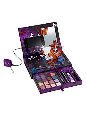 Urban Decay's Book of Shadows Volume IV has a USB port built into the palette