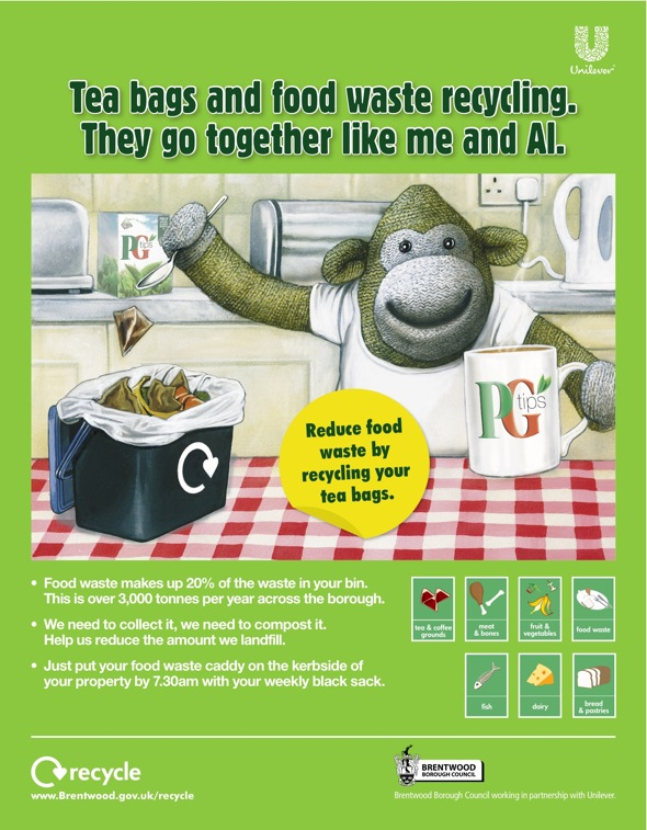 Unilever: tea bag recycling campaign