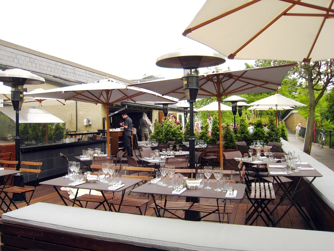 A well designed outdoor area transforms the image and ambience of a venue
