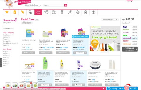Health & Beauty shop: comparing Boots and Superdrug with top grocers