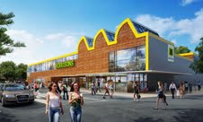 Computer Generated Image of proposed Morrisons supermarket in Littlehampton