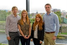 G Academy (l-r):  Ben Jobson, Victoria Cawkwell, Lauren Hume and Sean Featonby