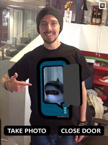 WKD: giving away interactive T-shirts to students during freshers' week