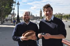 L to r: Fergus Jackson and Lucas Hollweg with winning loaf