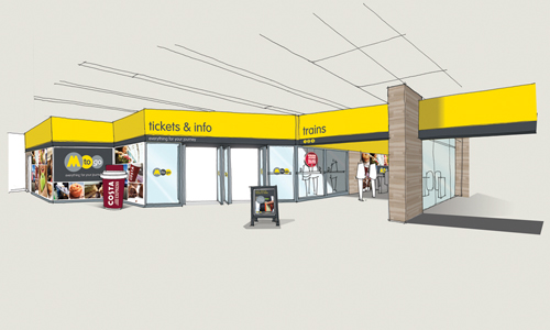 Merseyrail pilots new convenience and ticketing store for Retail shop exterior design