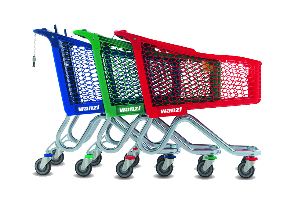 Tango: coloured trolleys lighten customer mood and are vehicle for branding, Wanzl claims