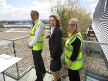 John Lewis Exeter branch manager, Kate Connock, and partners