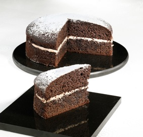 Chocolate reduced fat cake