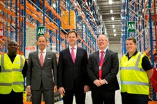 Nick Clegg opens new Sainsbury's Local DC